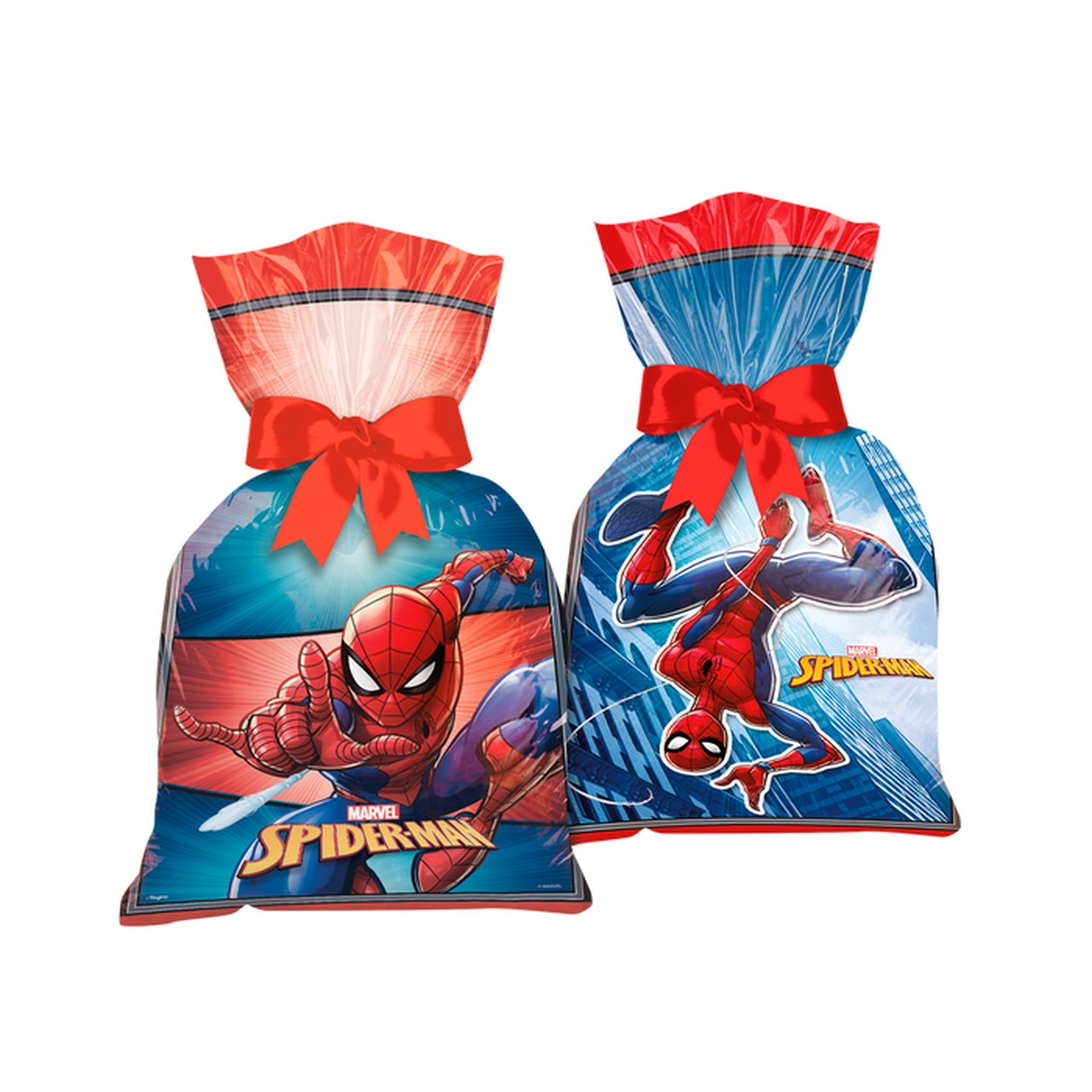 Sacola Plástica Spider-Man / 08 Unidades