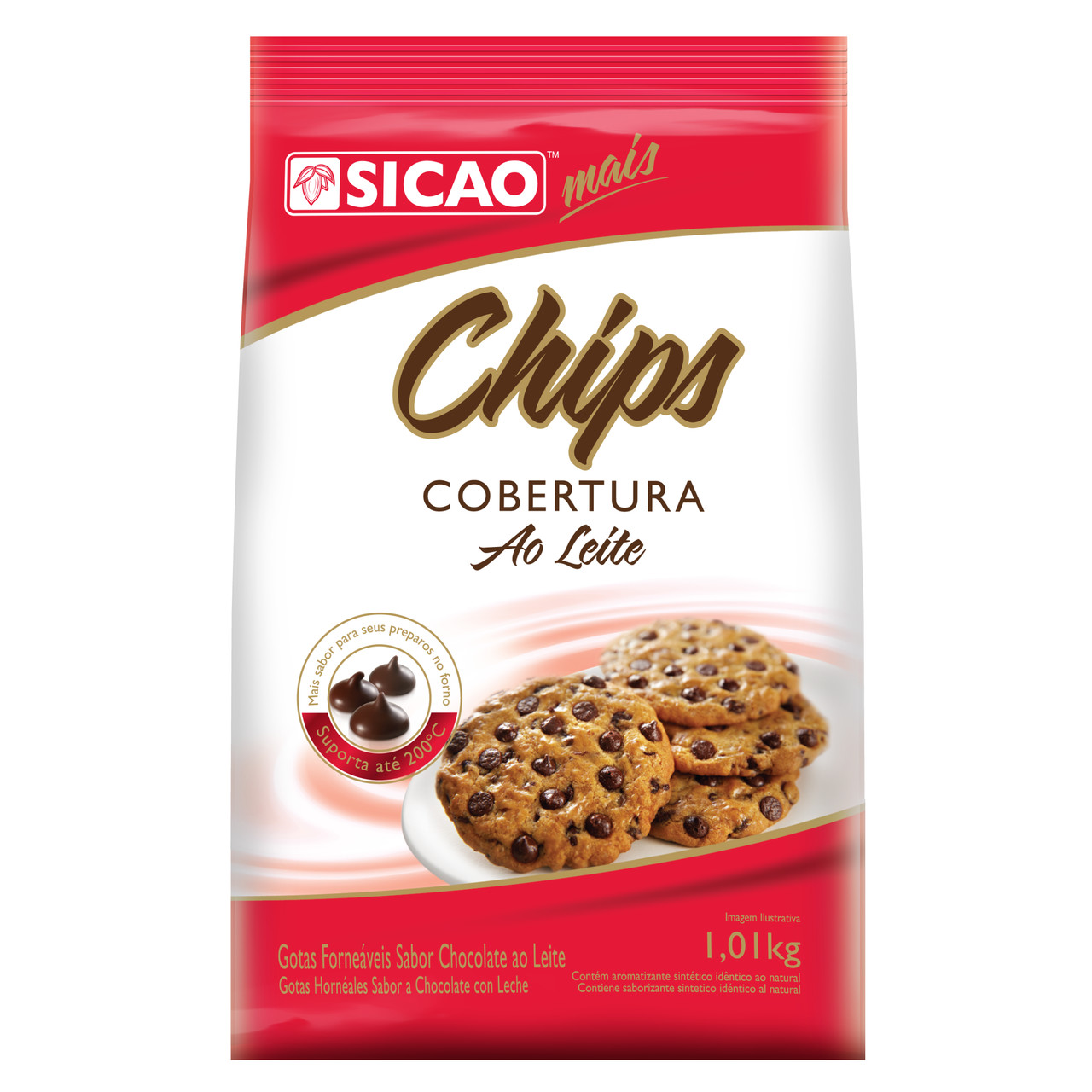 Sicao chips cobertura fracionada leite 1,01 kg
