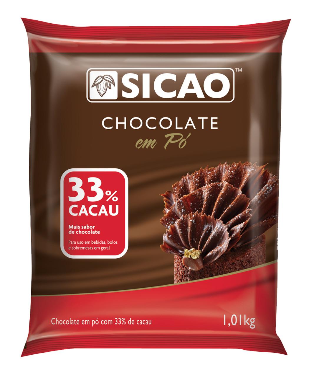 Sicao Chocolate em pó 33% 1,01kg