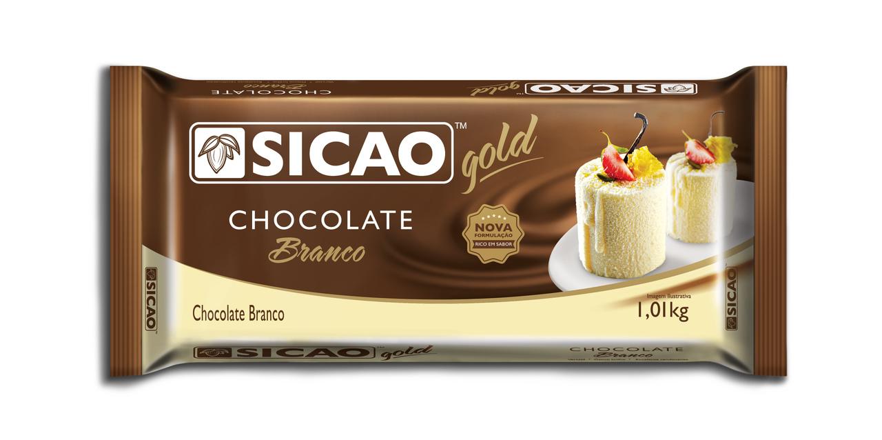 Sicao Gold Chocolate Branco Barra 1,01kg