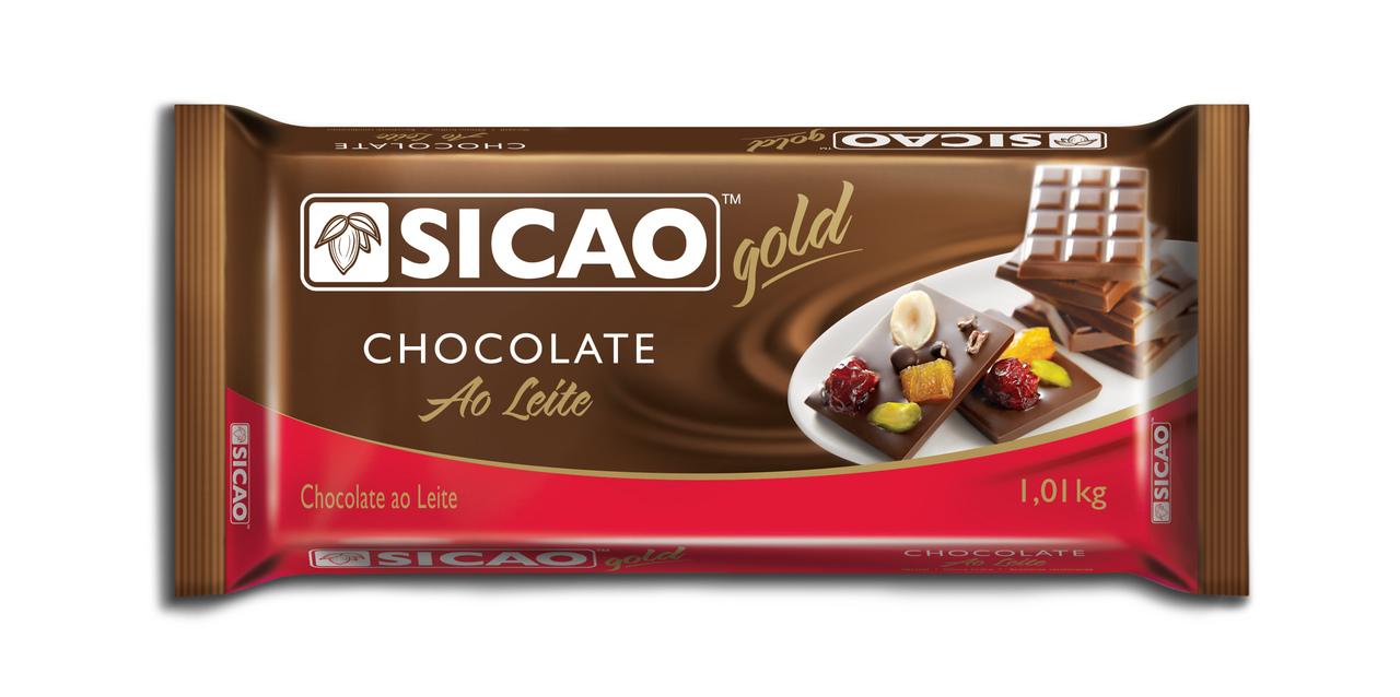 Sicao Gold Chocolate Leite Barra 1,01kg