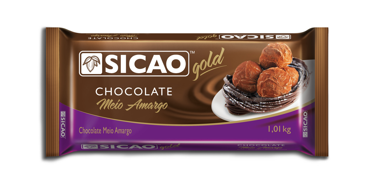 Sicao Gold Chocolate Meio Amargo Barra 1,01kg