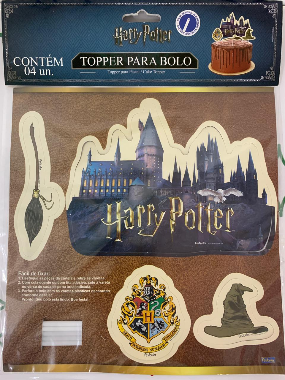 Topper Para Bolo Harry Potter