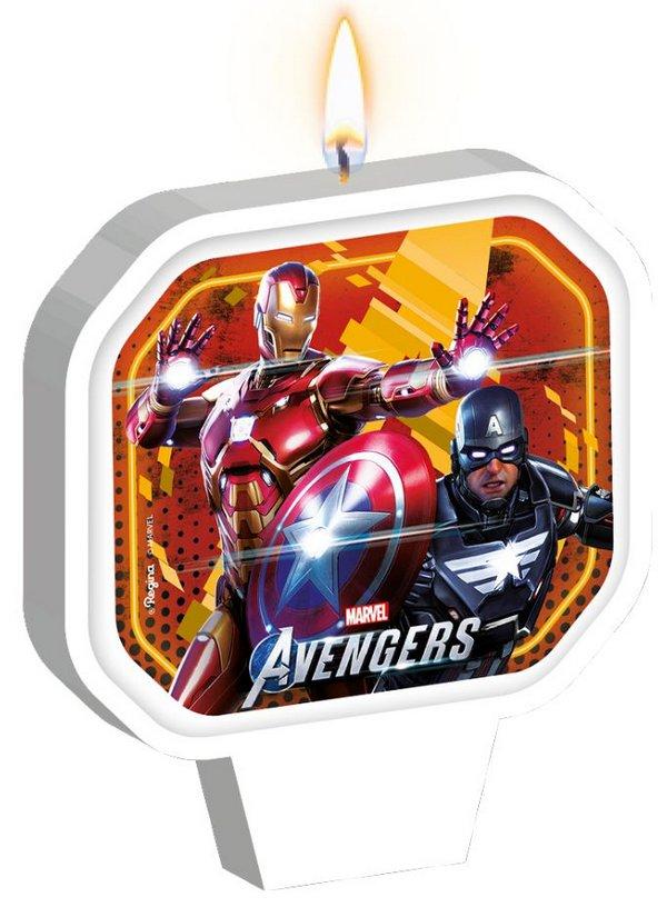 Vela Adesivada Avengers