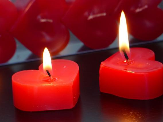 Vela Coração Cheio P Vermelho  romântica