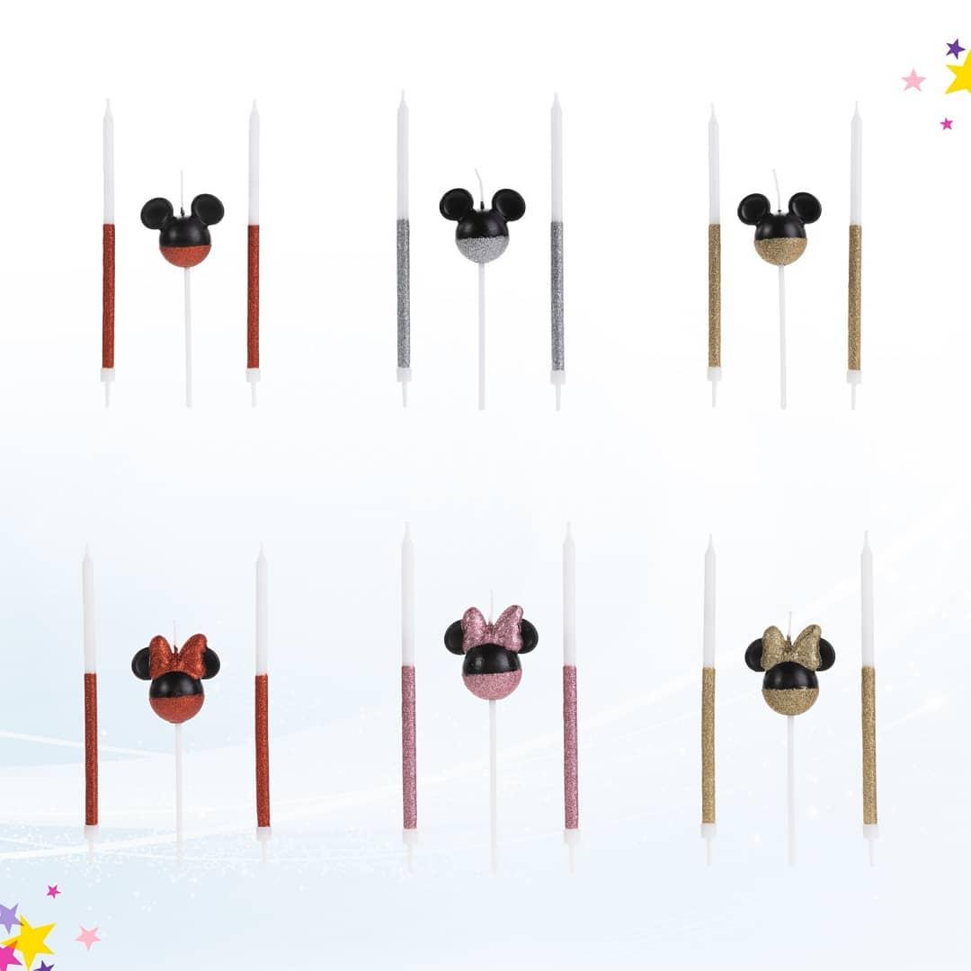 vela disney mickey mouse-01 uni. / 4 x 15 cm