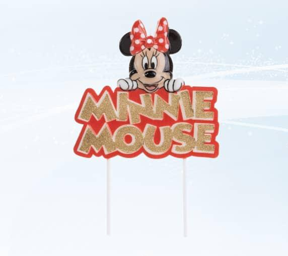 Vela Disney Minnie Mouse- 01 uni. / 22 X  cm