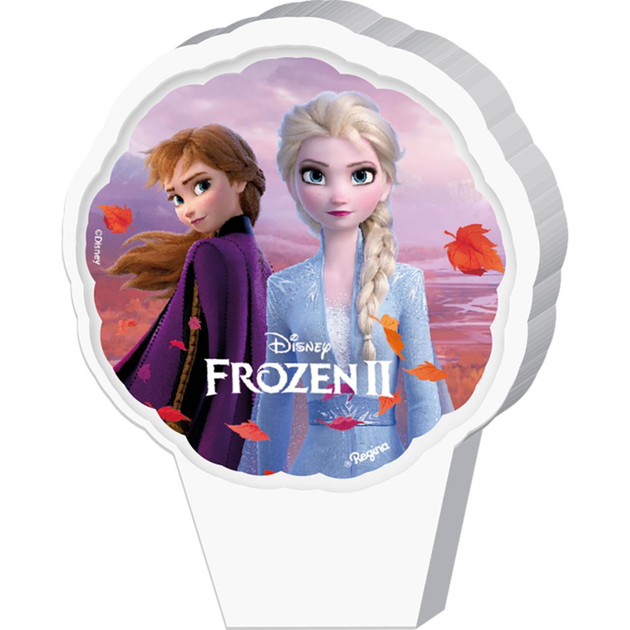 Vela Frozen Ii Plana Adesivada / 01 Unidade