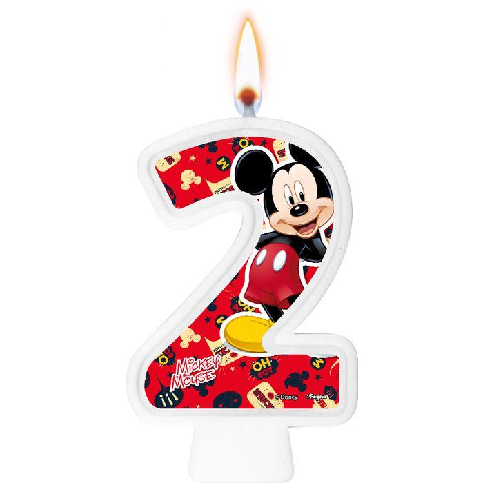 Vela Mickey Mouse n° 2 / 01 Unidade