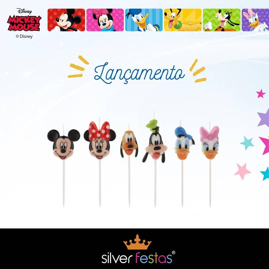 Vela Turma Mickey Colorida Disney 01 uni. / 4 x 11 cm