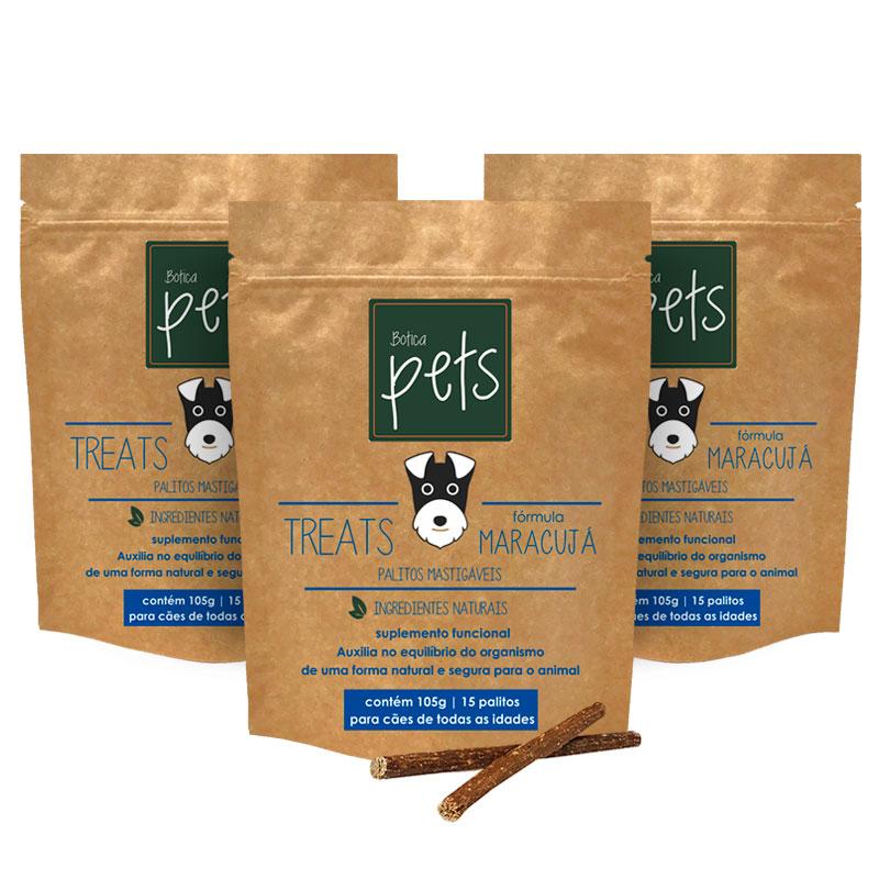 Kit com 3 Suplementos Funcionais em Palitos para Cães | Fórmula Maracujá