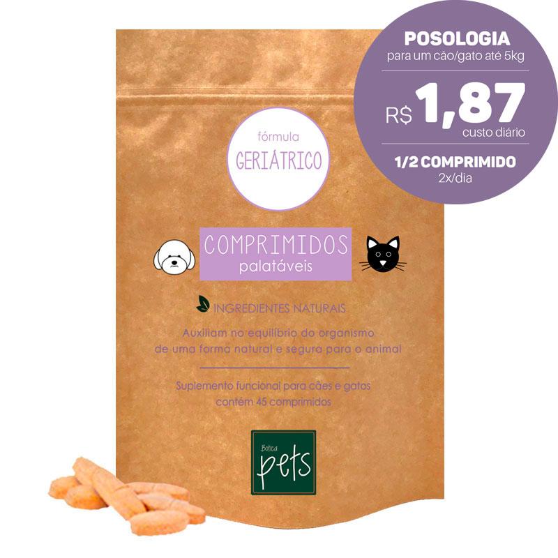 Suplementos Funcionais em Comprimidos para Cães e Gatos | Fórmula Geriátrica
