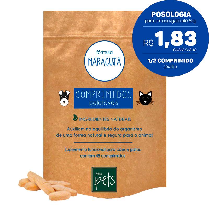 Suplementos Funcionais em Comprimidos para Cães e Gatos | Fórmula Maracujá