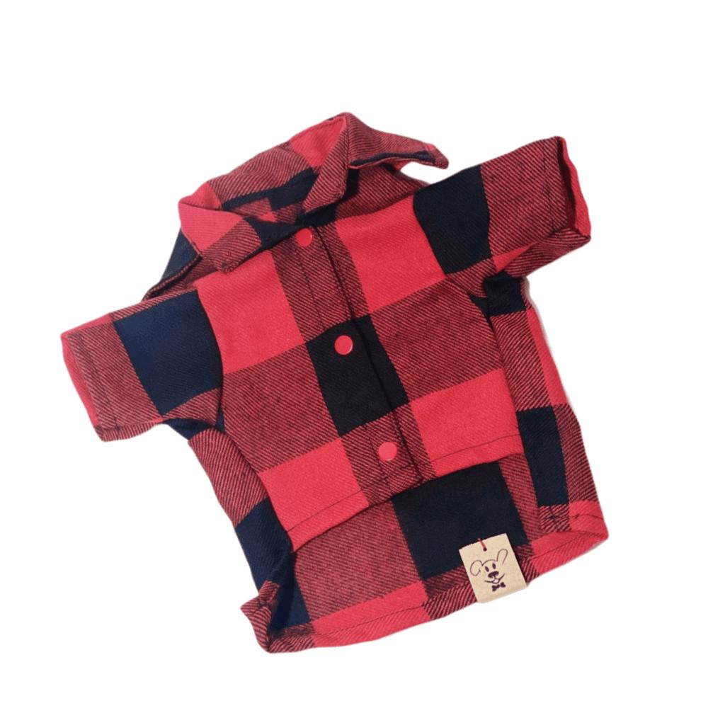 Camisa Xadrez Vermelho Flanela