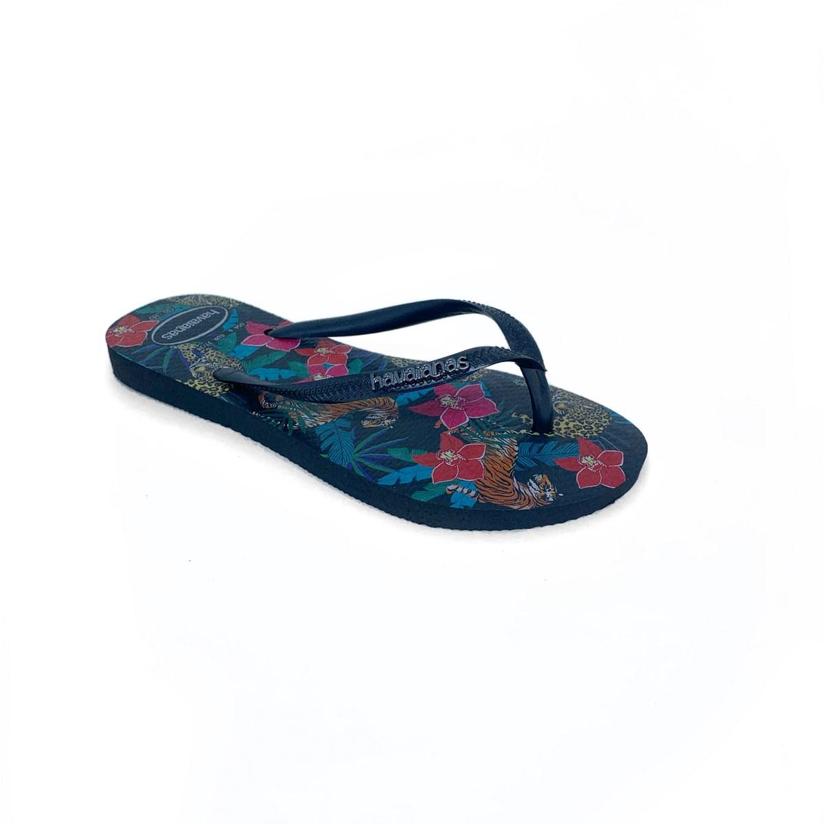 Havainas Slim/Tropical Preto