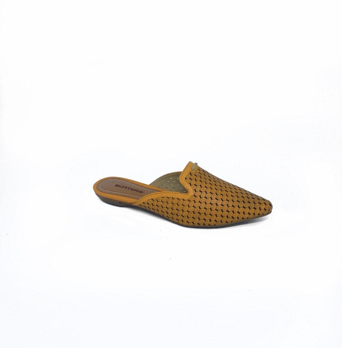 Mule Bottero Couro - Amarelo