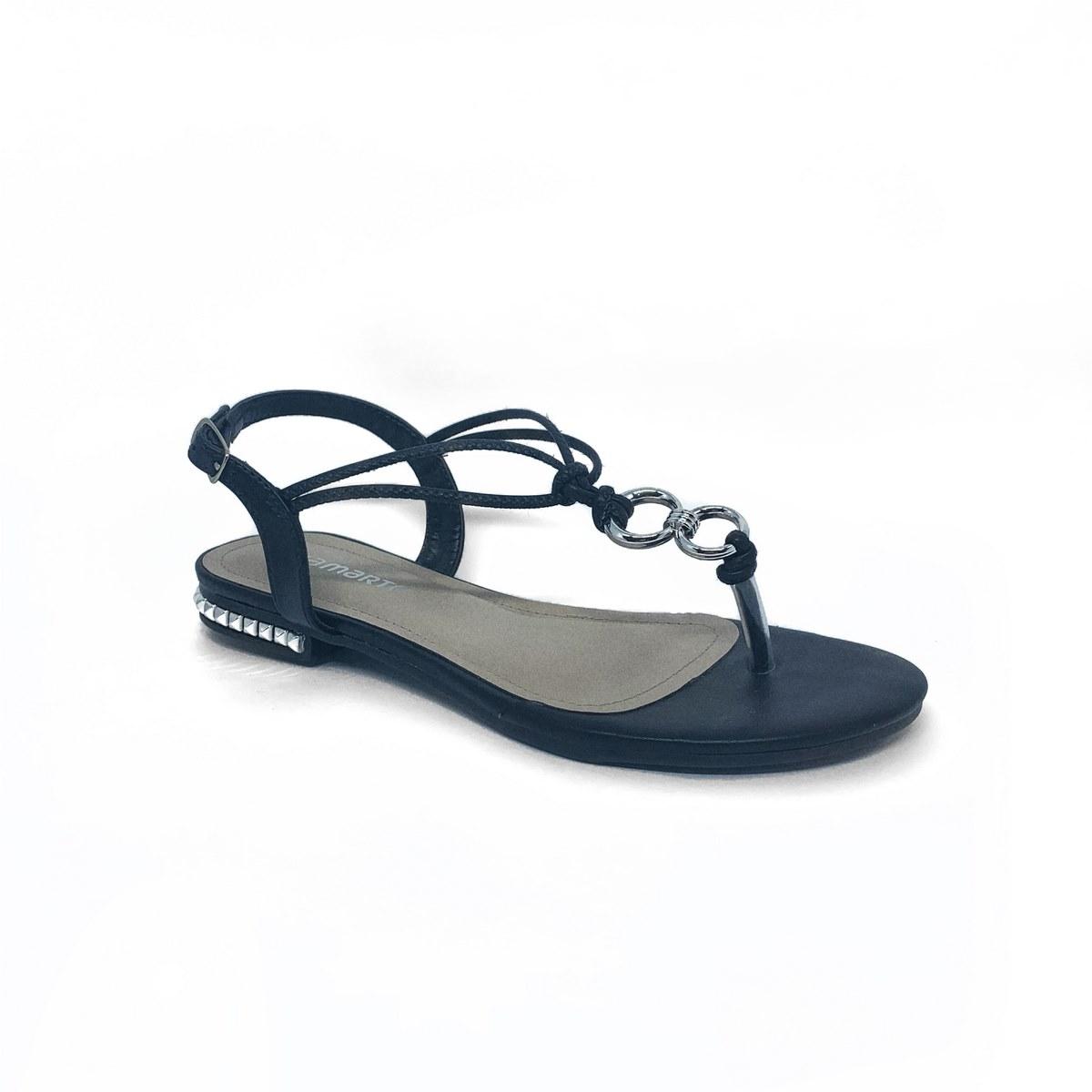 sandalia via marte preta