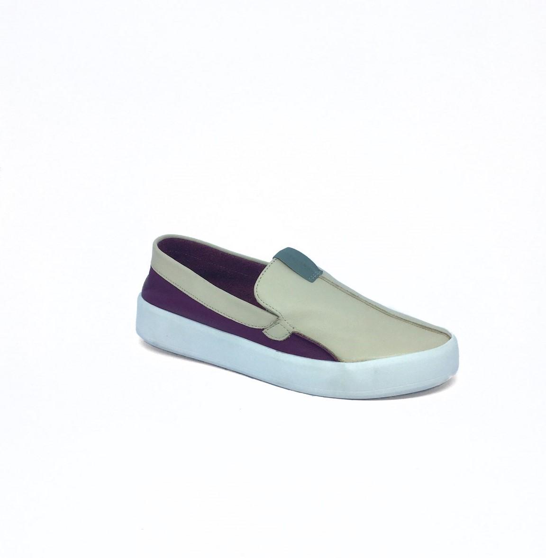 Slip-On Lia Line Roxo/Creme