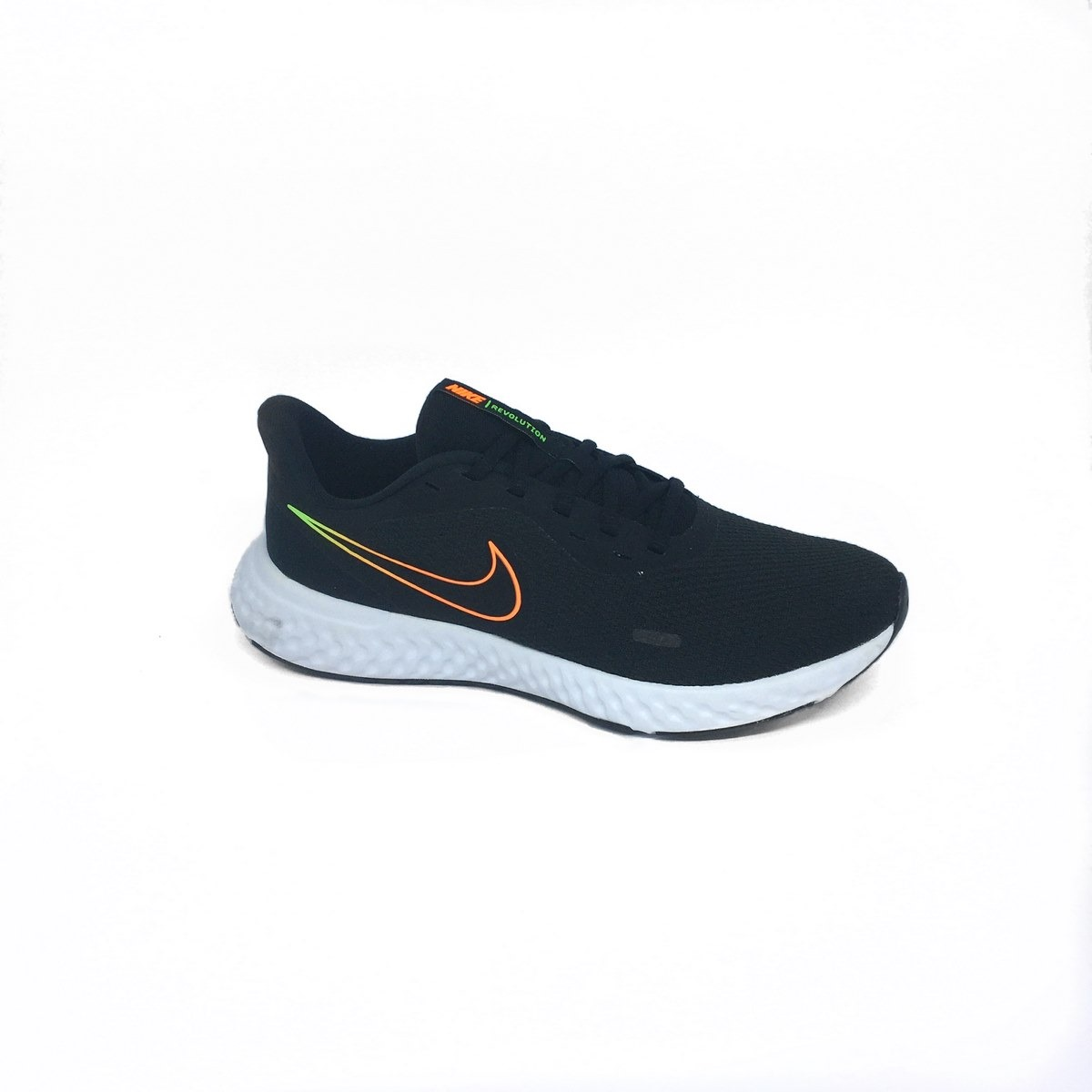 Tênis Nike Revolution Preto/Laranja/Verde