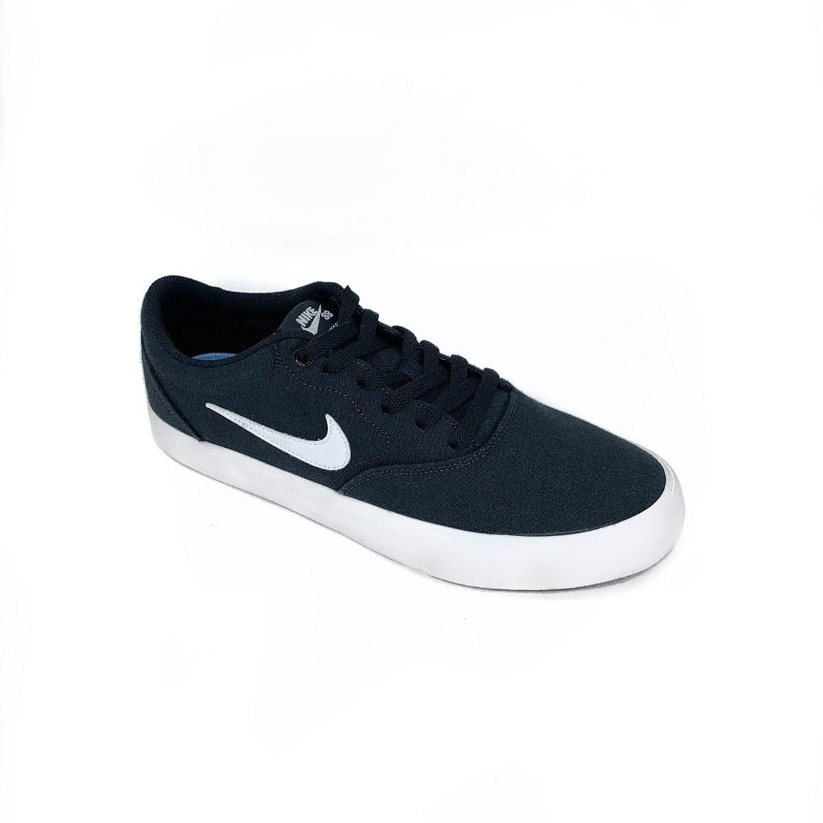 Tênis Nike Sb Charge Cnvs Black/White