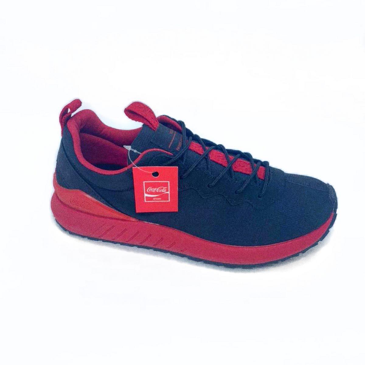 Tênis Coca-Cola Space Shoes Preto/Vermelho