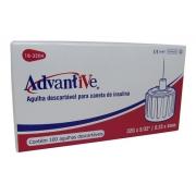 Agulha para Caneta de Insulina 4mm x 0,23 100 unidades - Advantive