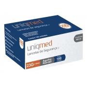 Lanceta de Segurança 23G Uniqmed - 100 unidades