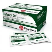 Lenços Umedecidos com Álcool 70%  - 120 unidades Rialcool Rioquímica