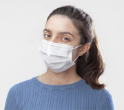 Máscara Tripla Proteção Descartável Branca Caixa C/50 Nayr