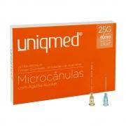 Microcânulas com Agulha Auxiliar 25G x 40mm - 12 unidades Uniqmed