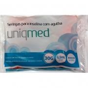 Seringas 0,5mL para Insulina com Agulha 8x0,30mm 30G - 10 unidades