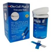 Tiras para Medir Glicose 50 unidades - On Call Plus II
