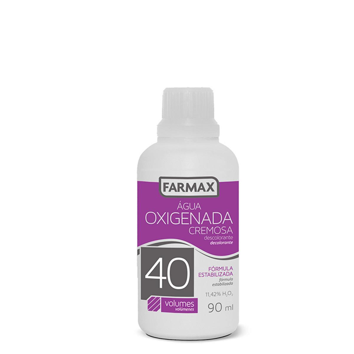 Água Oxigenada Cremosa 40 volumes - 90 ml (Farmax)