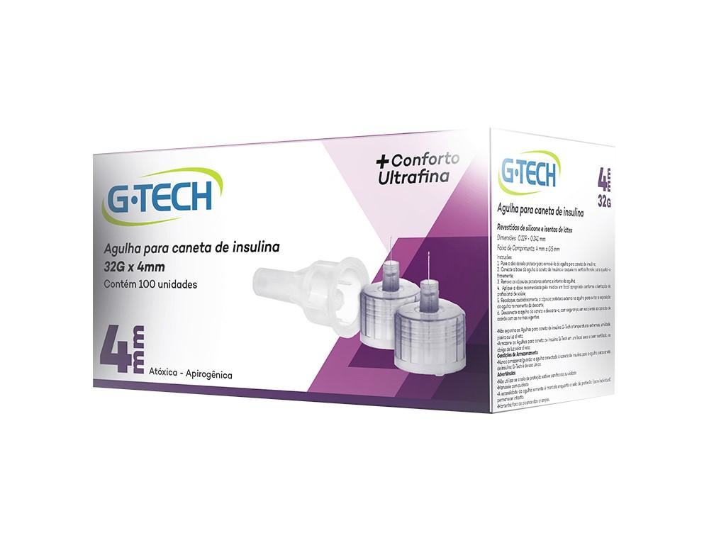 Agulha para Caneta de Insulina 4mm 100 unidades - G-TECH