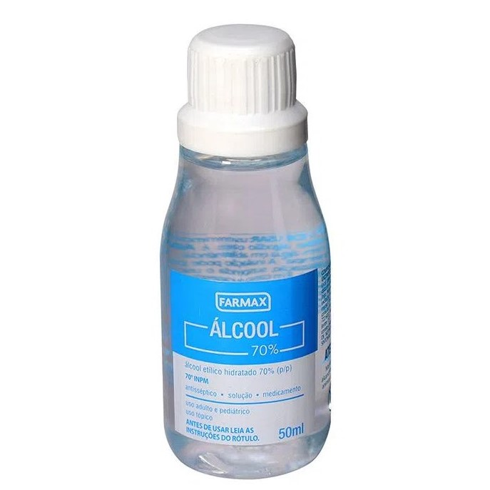 Álcool 70% Liquido 50 ml - Farmax