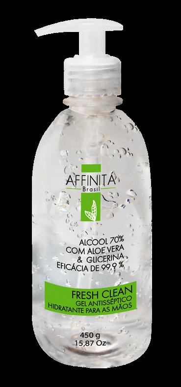 Álcool em Gel 70% 450g  Antisséptico com Aloe Vera - Affinitá