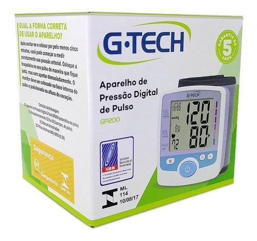 Aparelho de Pressão Digital de Pulso - G-TECH GP200
