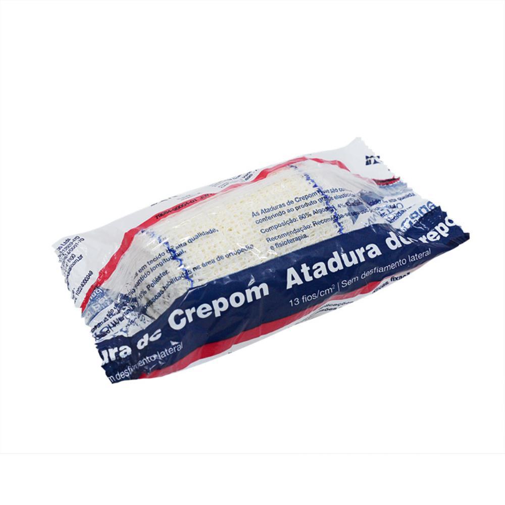 Atadura Crepe Crepom 6cm x 1,8m Neve - 12 unidades
