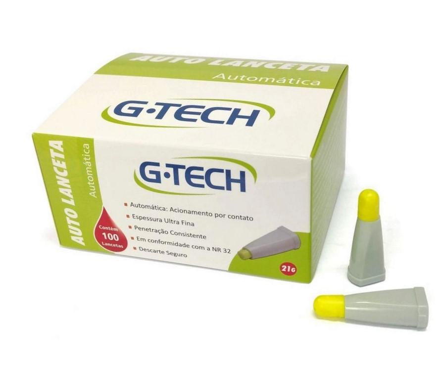 Auto Lanceta Automática 21G G-TECH - 100 unidades