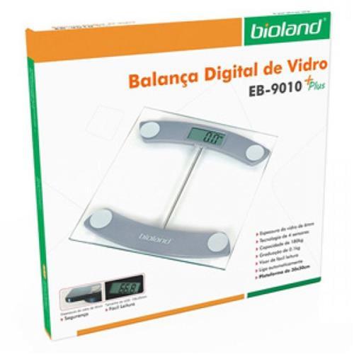 Balança Digital de Vidro EB-9010 180Kg Bioland