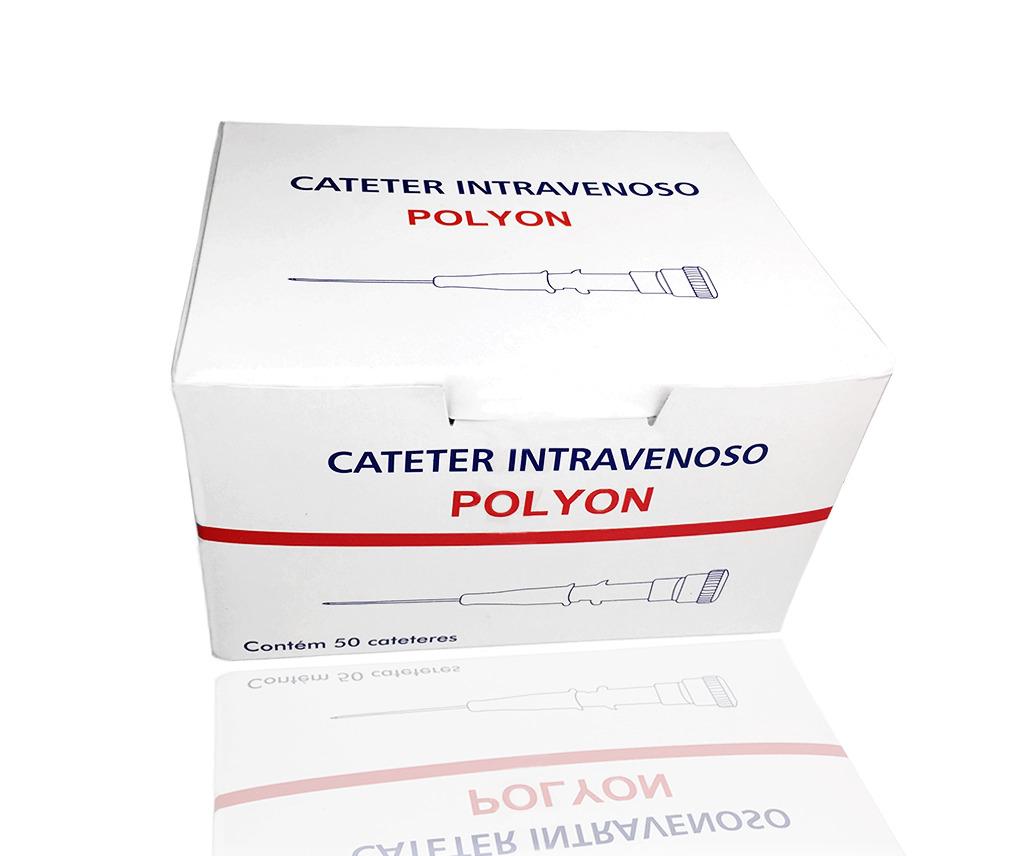 Cateter Intravenoso 14G - 50 unidades - Polyon