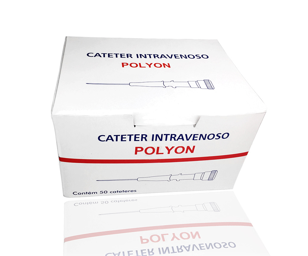 Cateter Intravenoso 20G - 50 unidades - Polyon