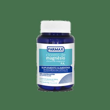 Cloreto de Magnésio PA 60 cápsulas 700mg - Farmax