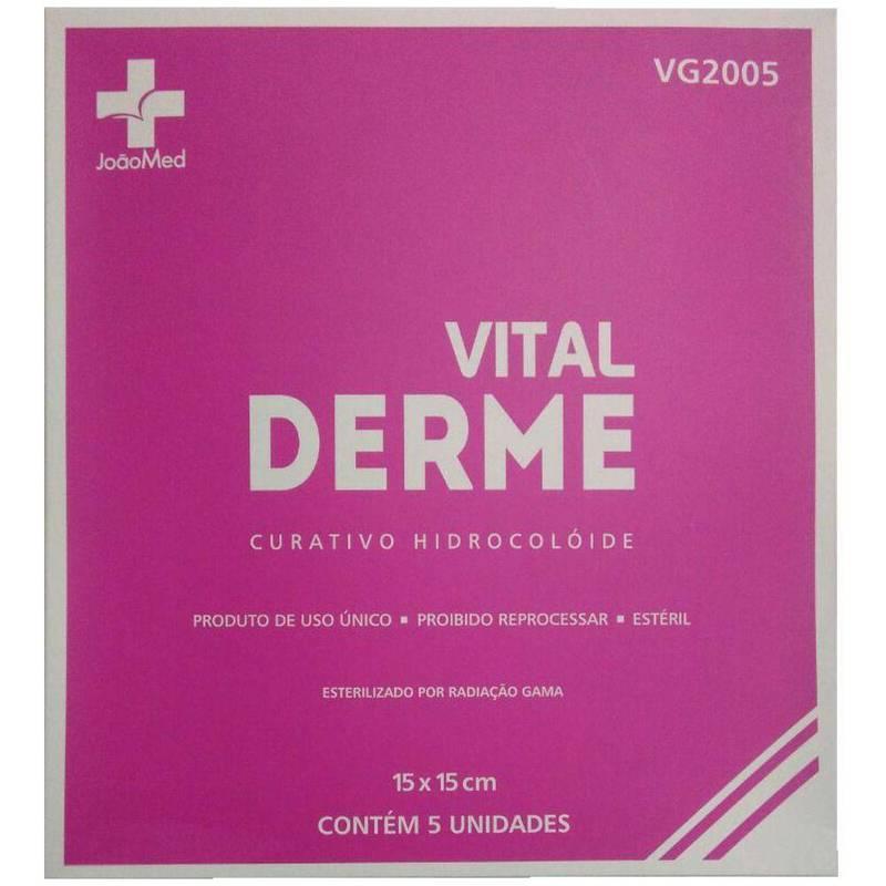 Curativo Hidrocoloide 20cmx20cm C/5 Vitalderme