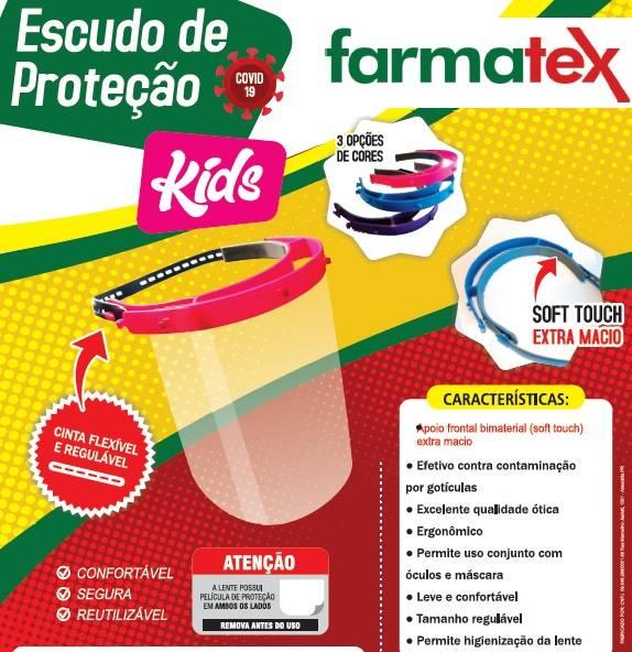 Face Shield Infantil Rosa - Farmatex