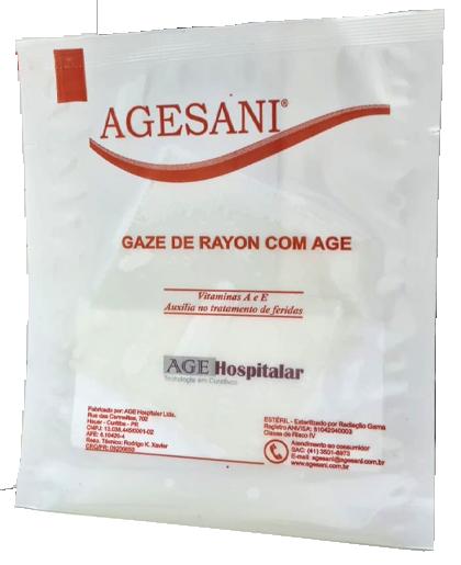 Gaze de Rayon com Age Tamanho 7,5cm x 7,5cm (Unidade) Agesani
