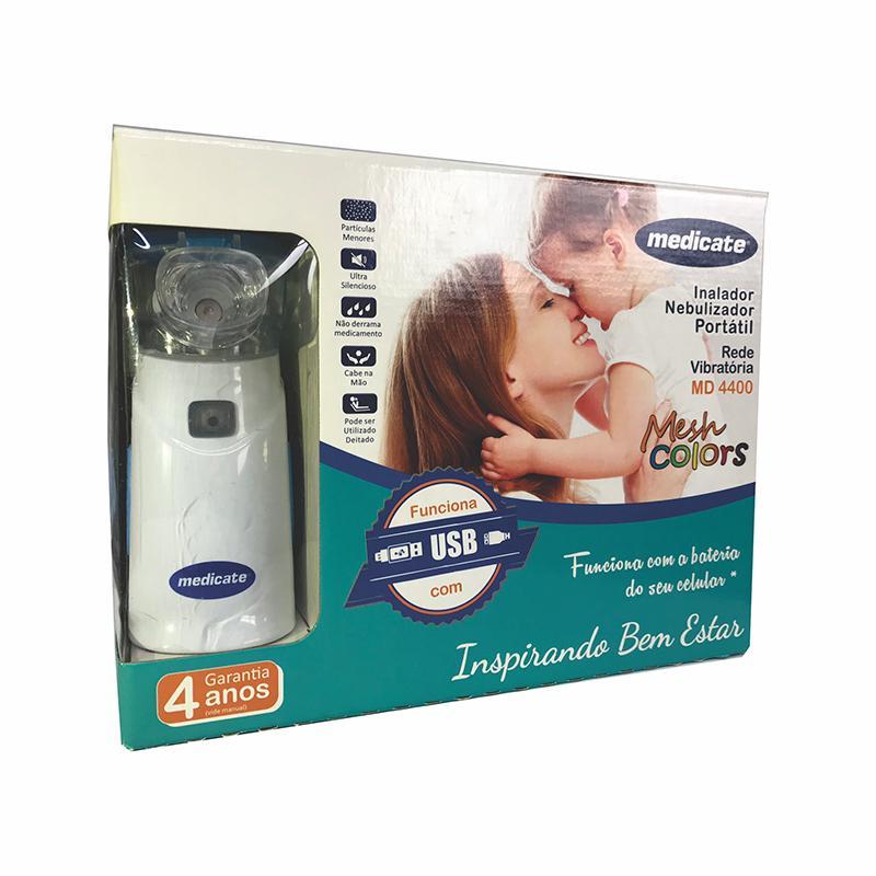 Inalador/Nebulizador de Ar Portátil MD 4400 - Medicate