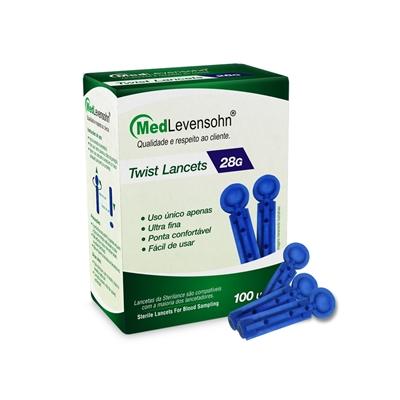 Lancetas 28G 100 unidades - MedLevensohn