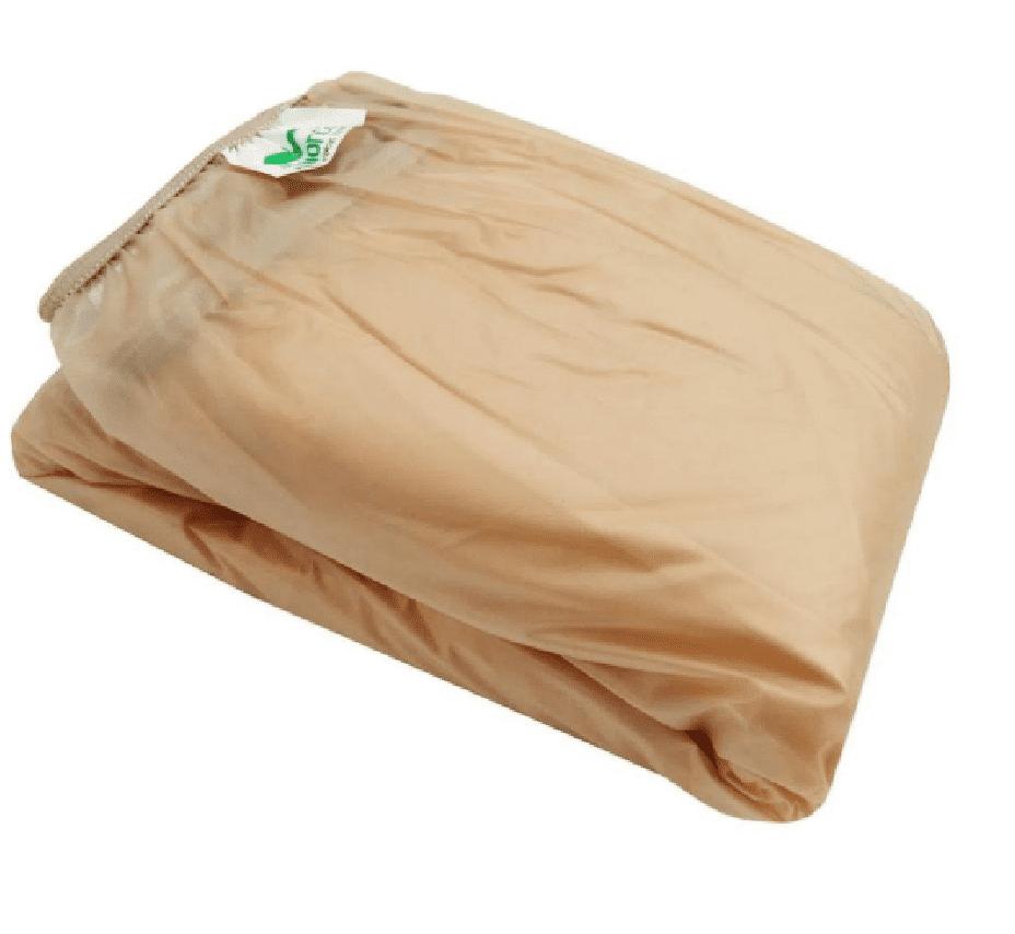 Protetor Impermeável de Colchão para Berço Padrão com Zíper Bege