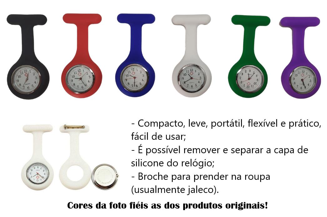 Relógio de Lapela Branco - Medicina e Enfermagem